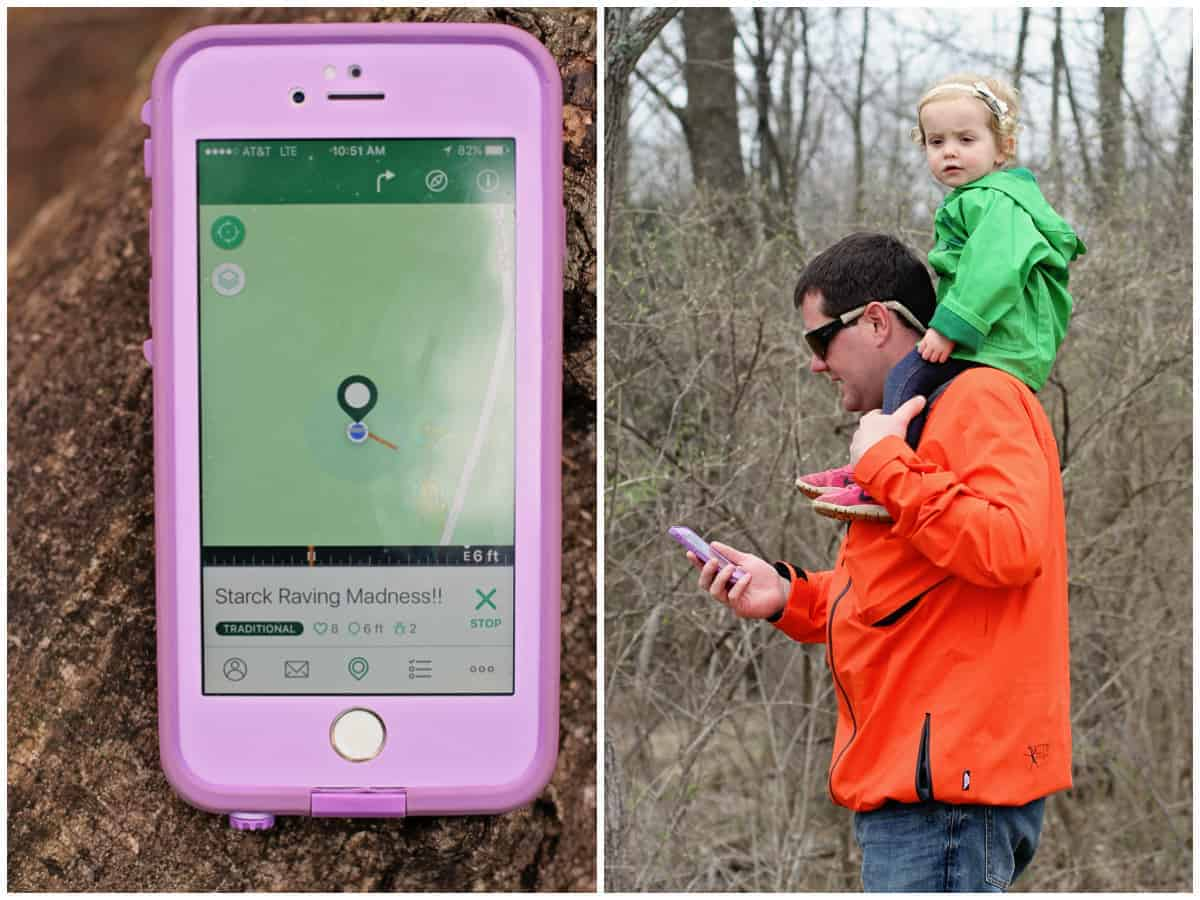 Geocaching with kids - how to use the geocaching app