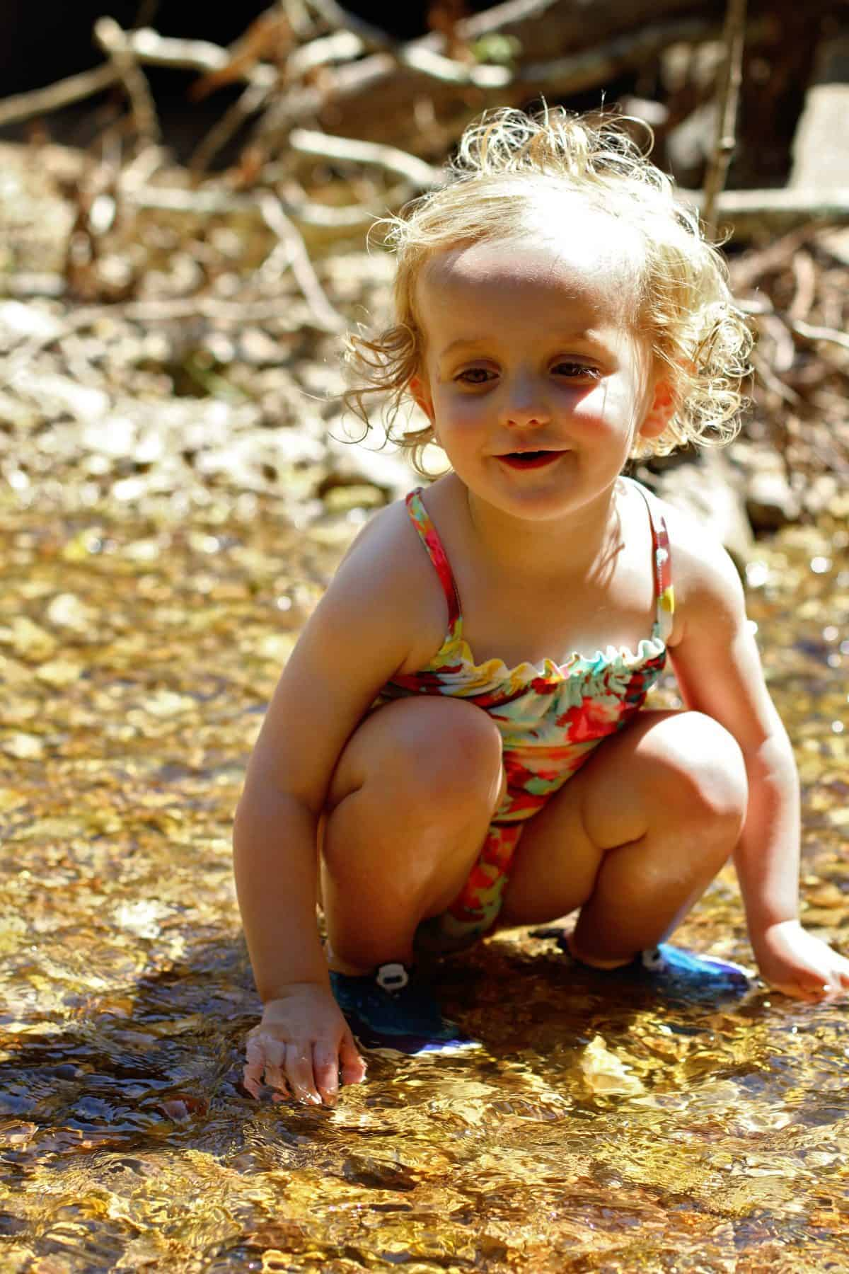 exploring creeks with toddlers
