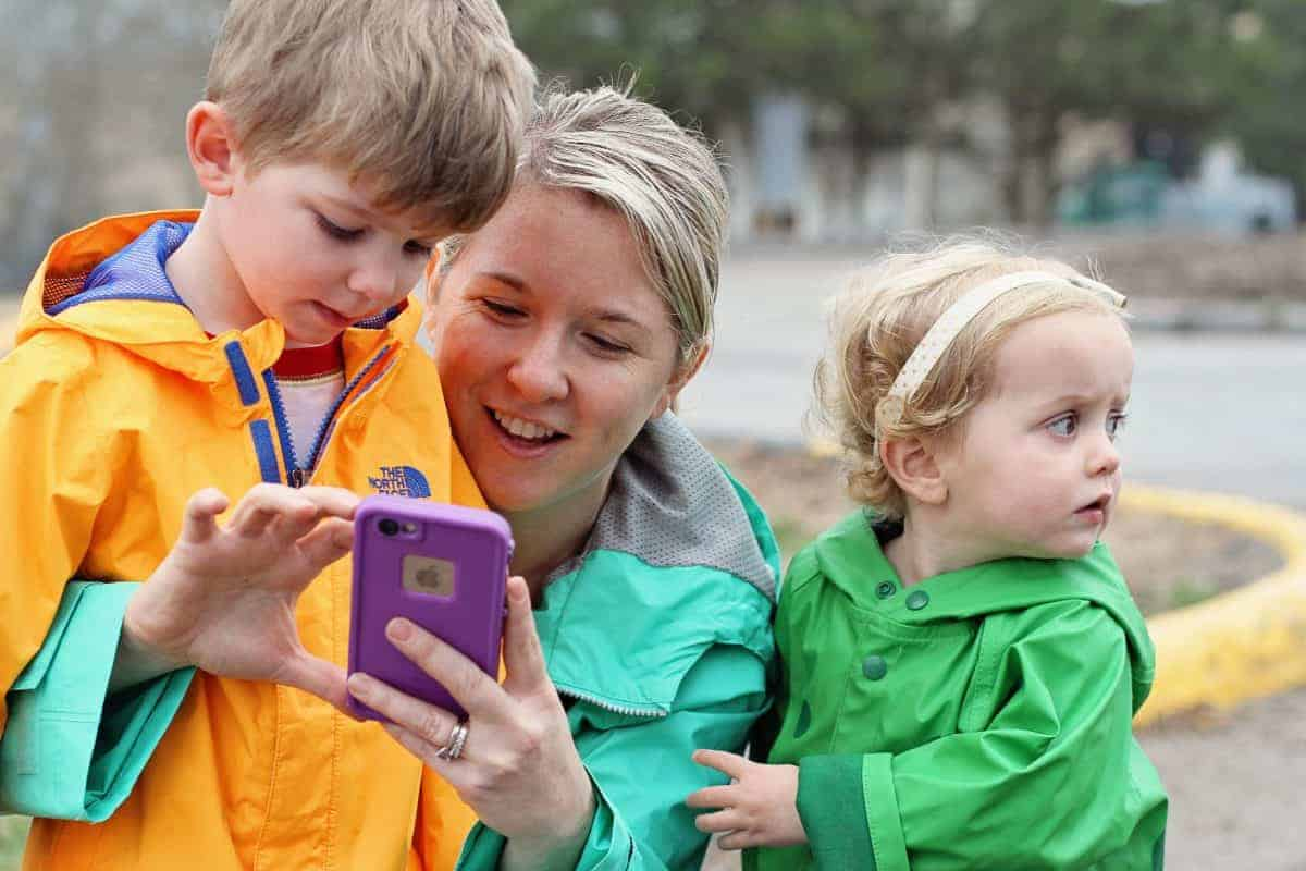 Geocaching with kids