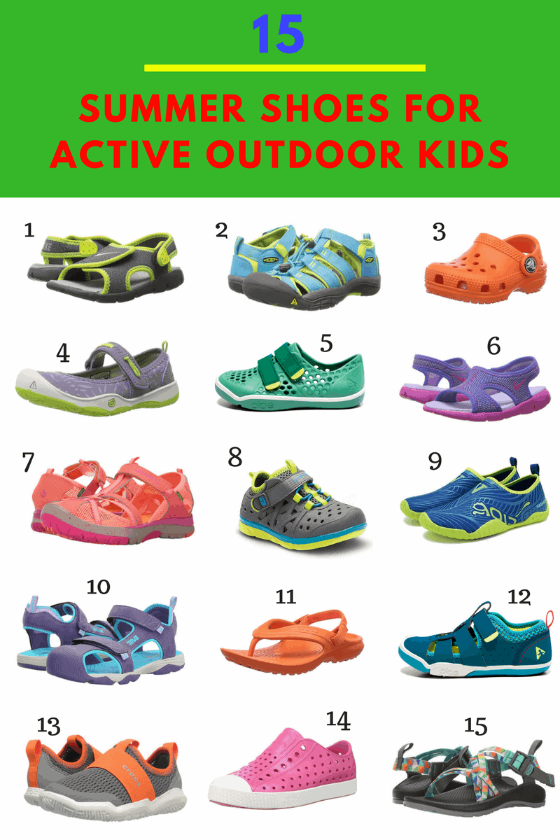 Favorite Summer Shoes and Sandals for Active Outdoor Kids