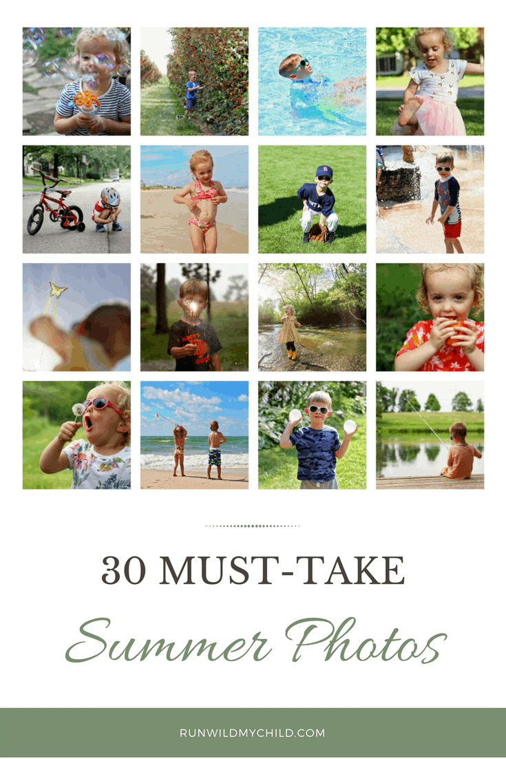 30 Must Take Summer Photos of Kids