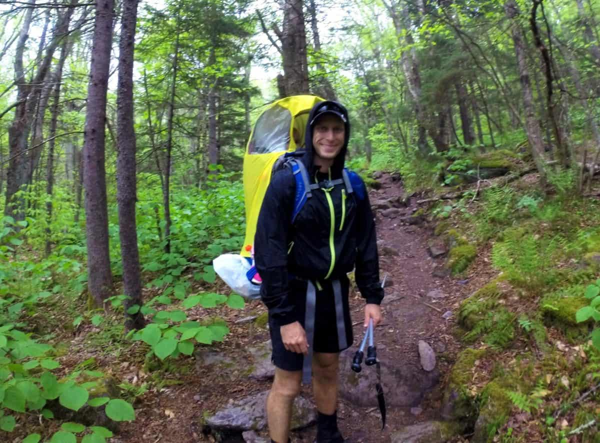 Backpacking the Appalachian Trail with a Toddler in the rain hiking