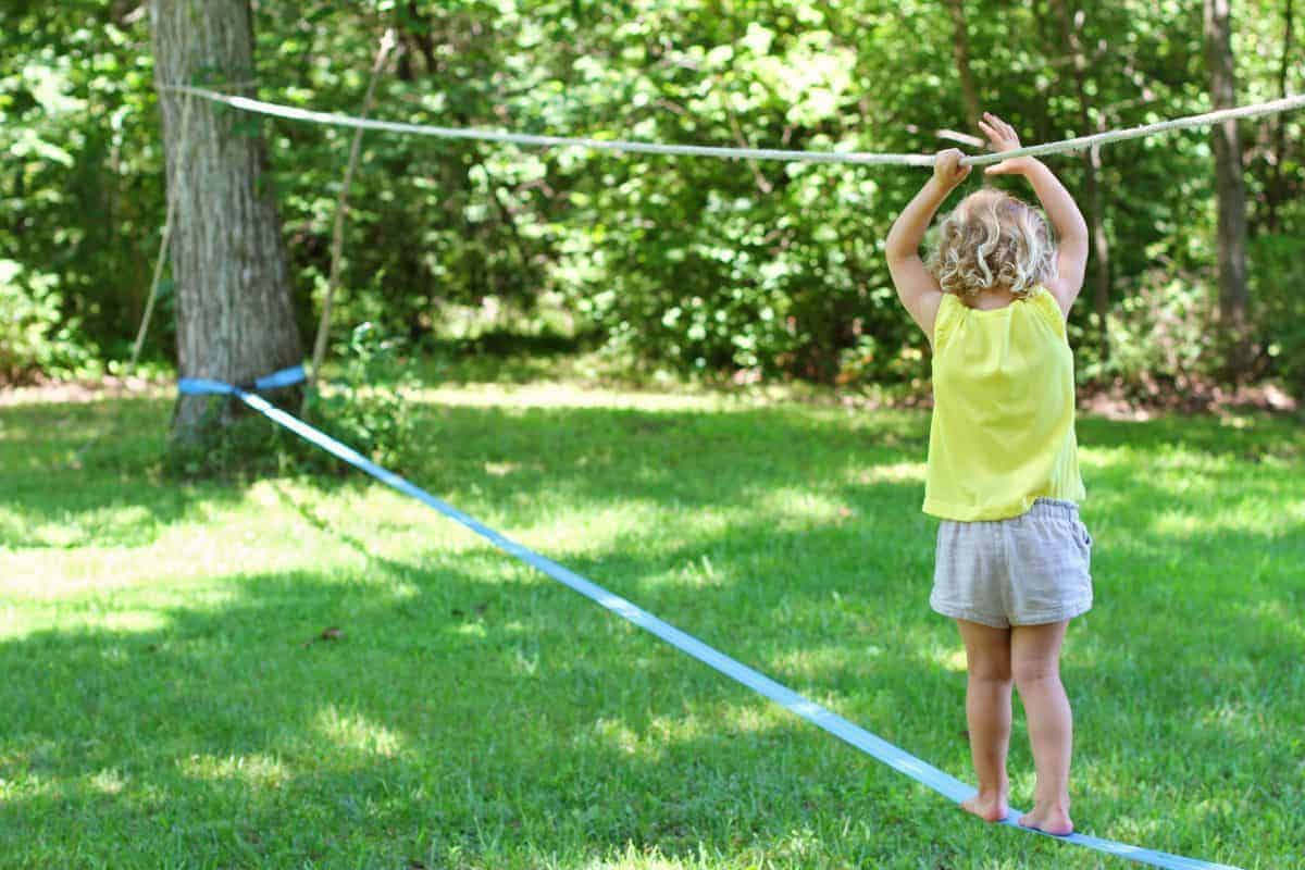 A Beginner's Guide to Backyard Slacklining with Kids