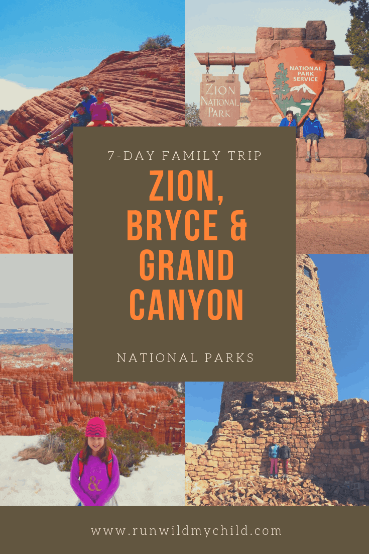 Planning a Southwest National Parks Trip with Kids - Zion, Bryce Canyon & Grand Canyon National Parks