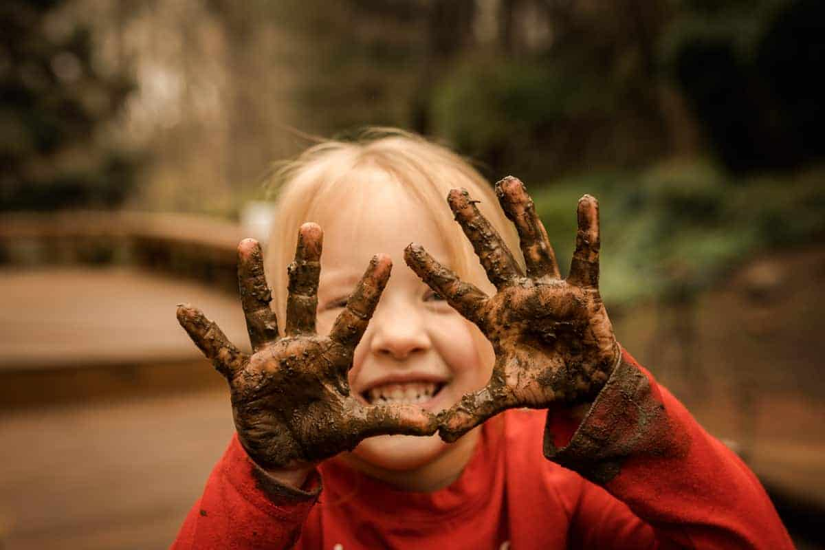 Muddy Hands - ways to let kids have fun with mud