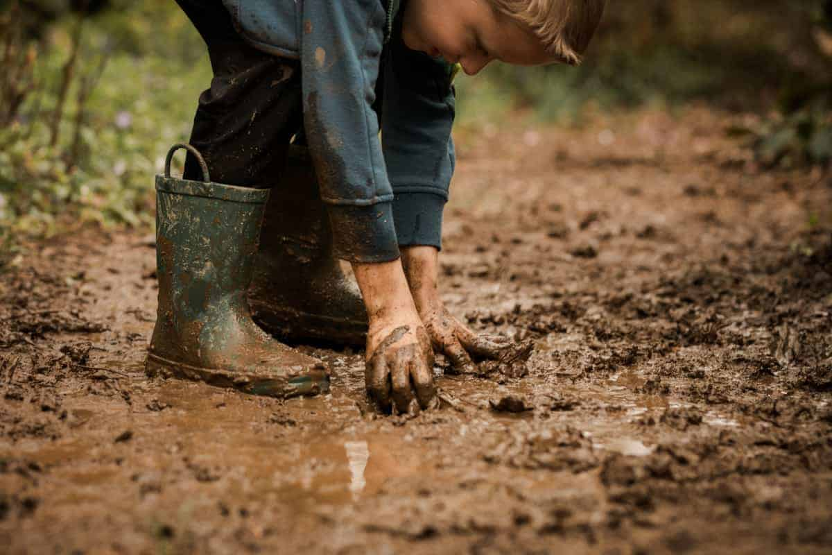 Ways to have Fun with Mud - muddy boots