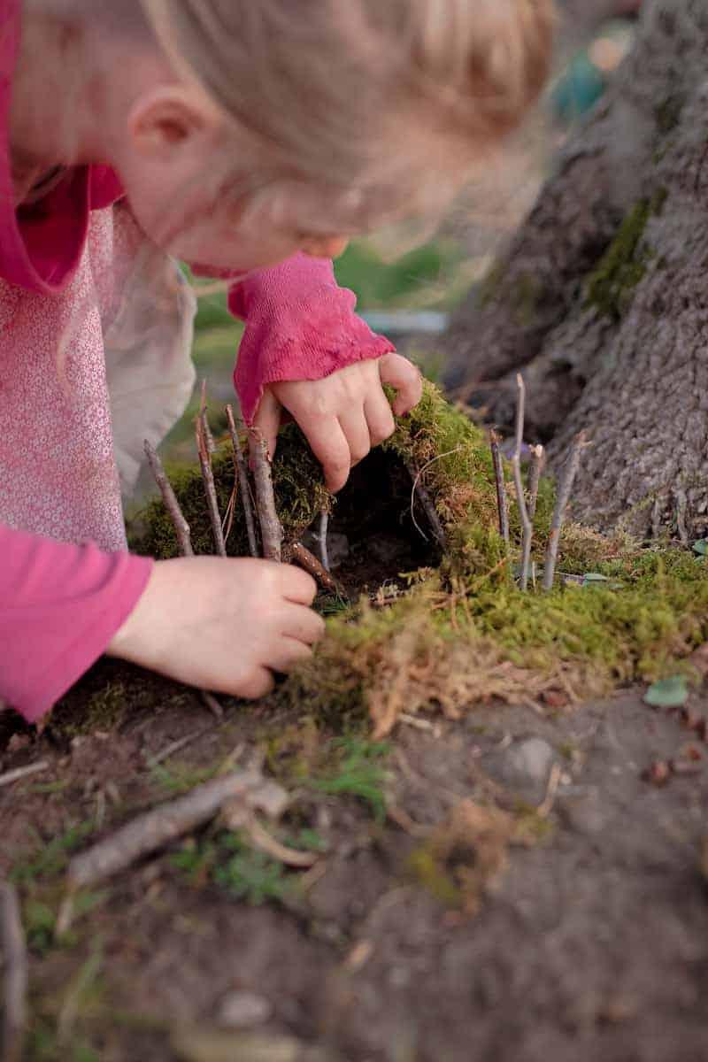 Creating Nature Fairy Garden 7