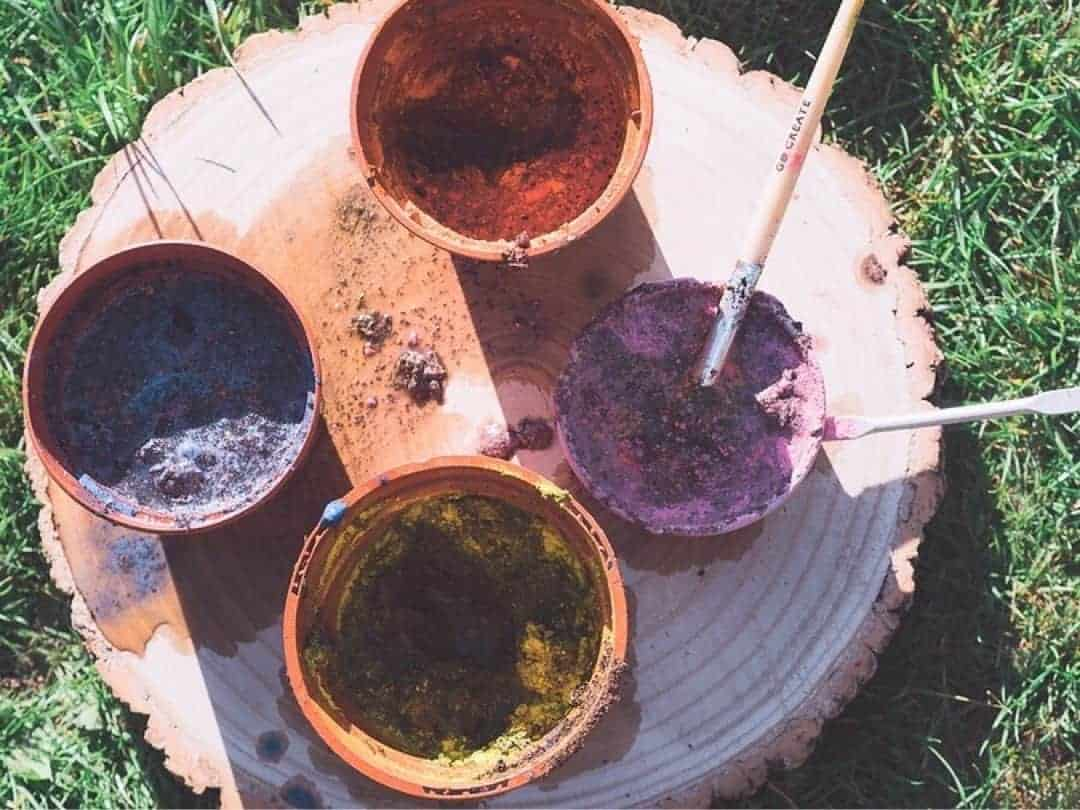 mud painting for kids
