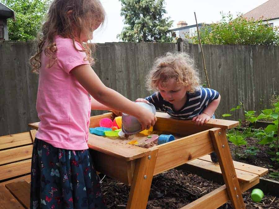 backyard play space sandpit