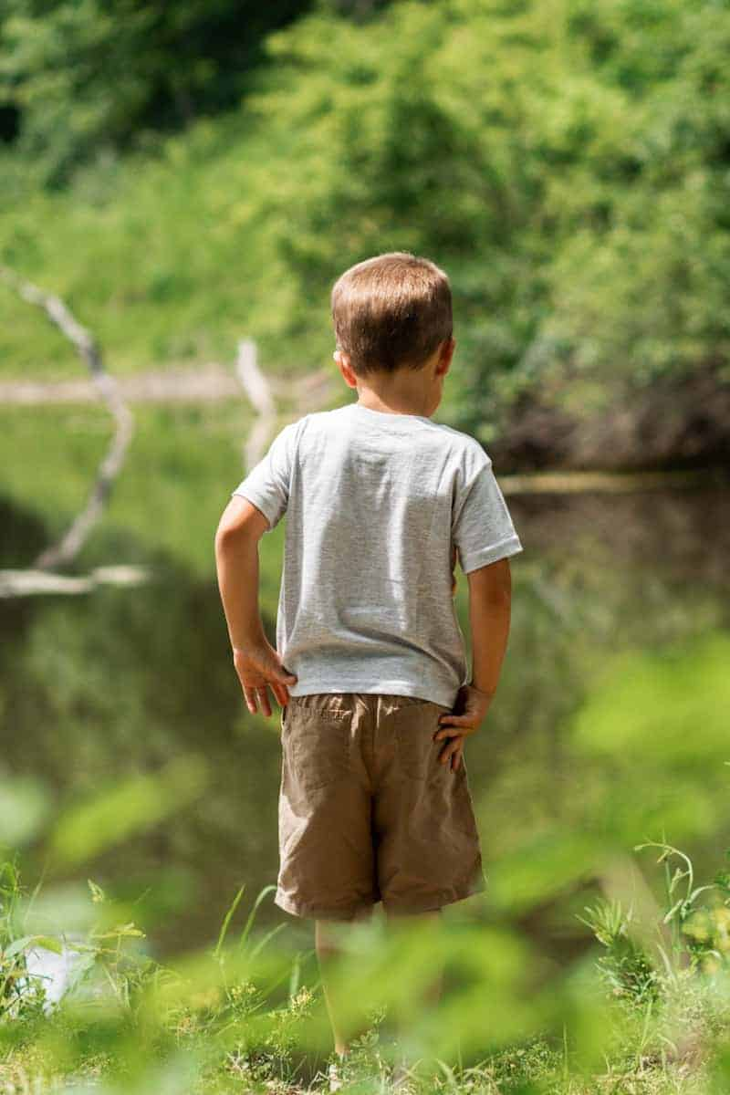 Exploring outdoor ponds and nature with medically-complex children