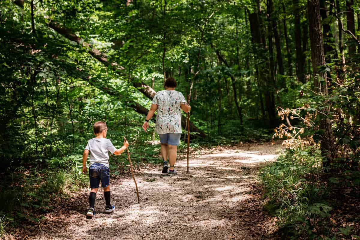 Hiking outdoors with medically-complex children