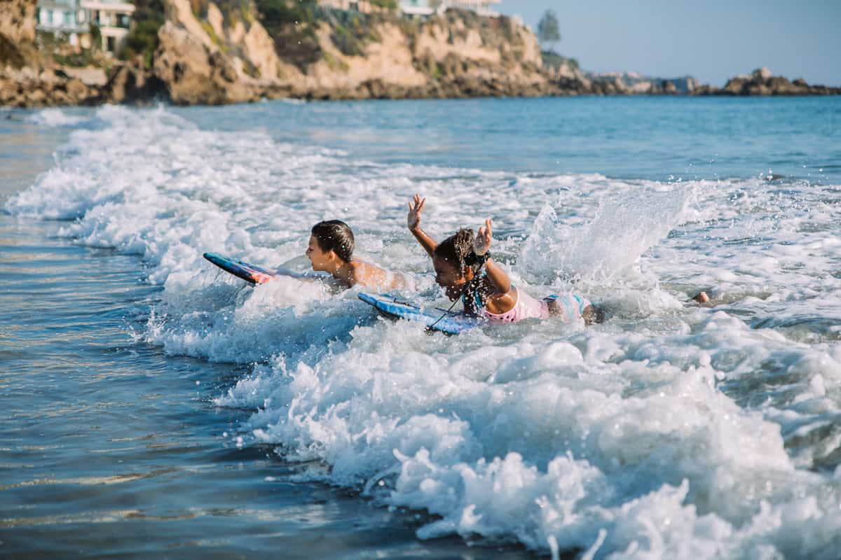 How to get started boogie boarding with kids