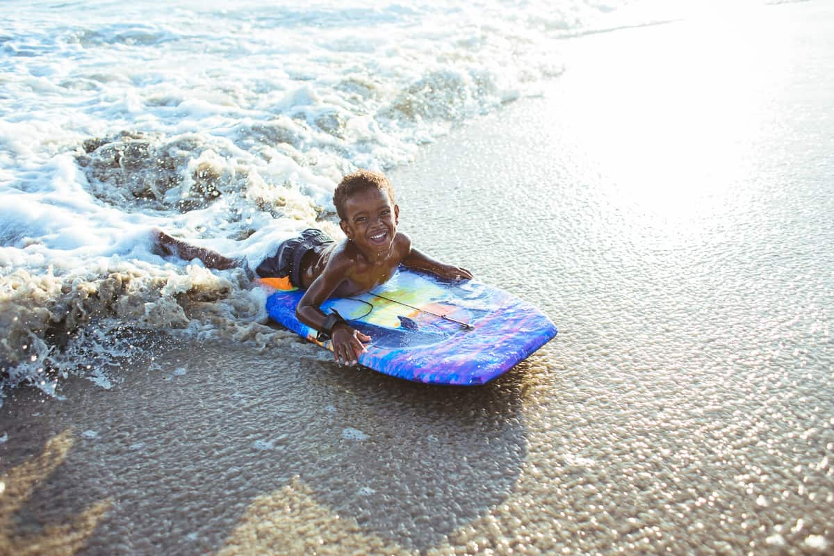 Boogie Boarding with kids