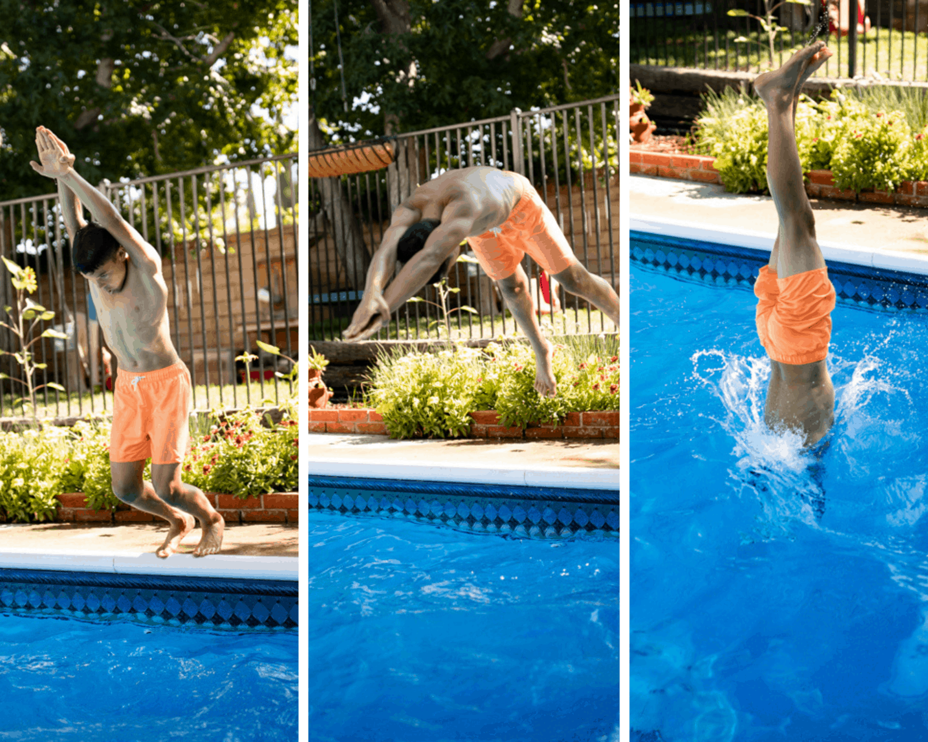 teach kids to dive in the pool